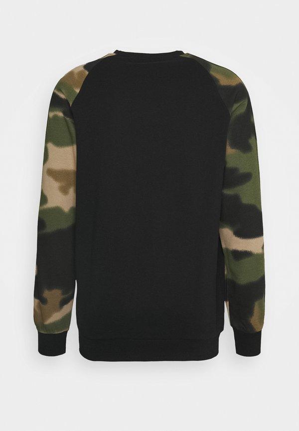 adidas Originals CAMO CREW - Bluza - black/wild pine/multicolor/czarny Odzież Męska KQVI