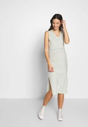 SIMONE SLEEVELESS DRESS - Vestido ligero - white/green