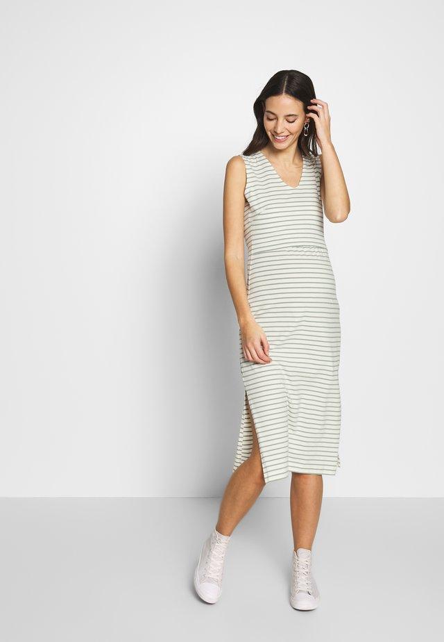 SIMONE SLEEVELESS DRESS - Jerseyjurk - white/green