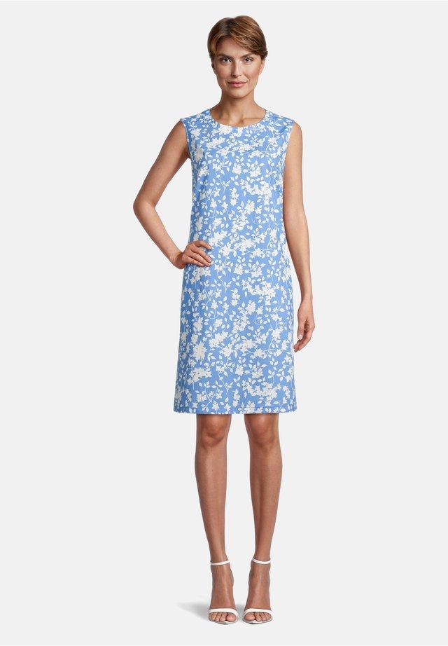 MIT REISSVERSCHLUSS - Day dress - blue/cream