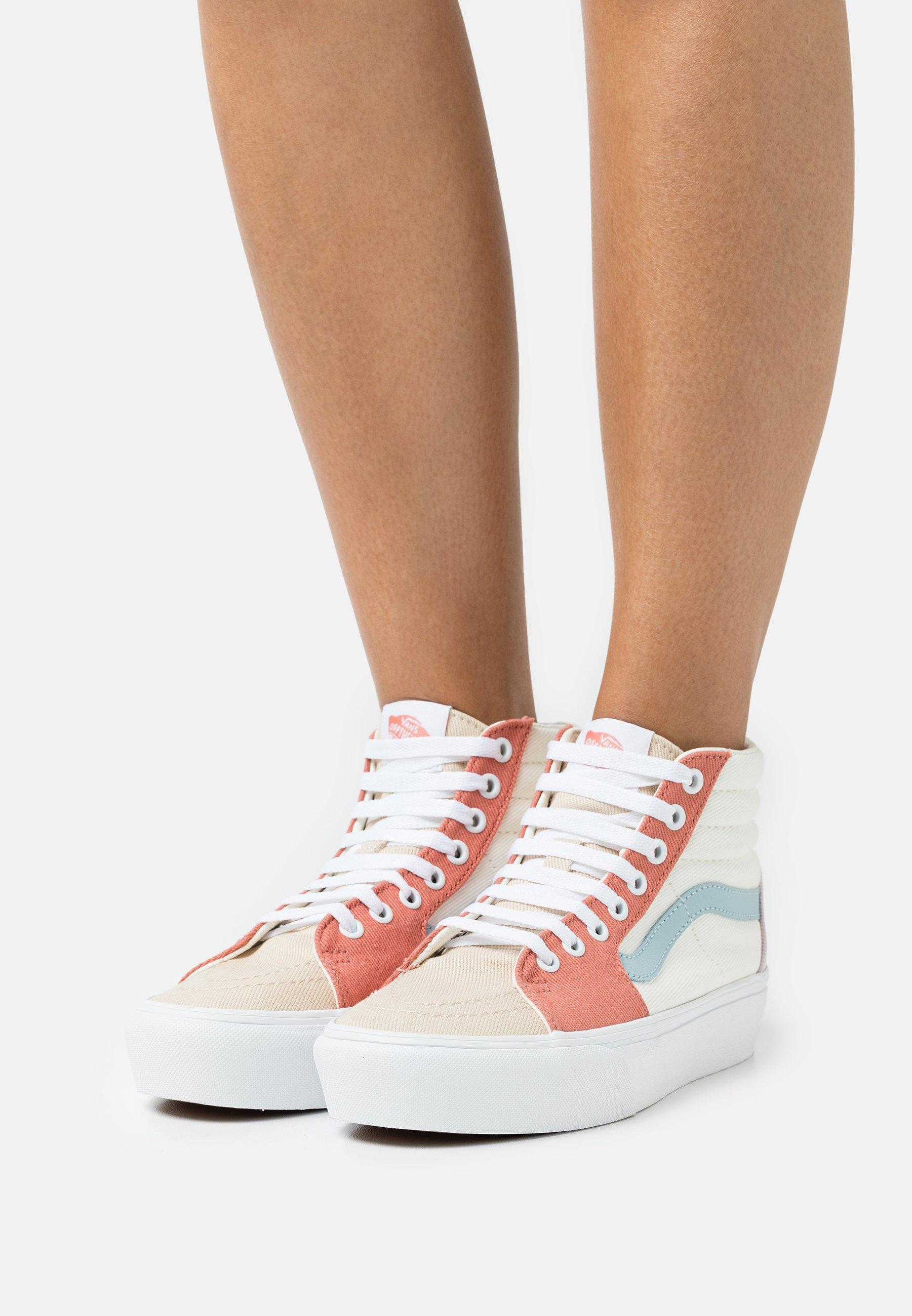 SK8 PLATFORM - Zapatillas altas - pastel block/true white