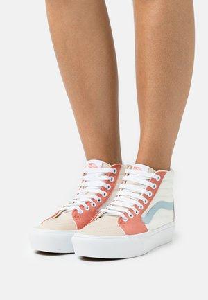 SK8 PLATFORM  - Sneakersy wysokie - pastel block/true white