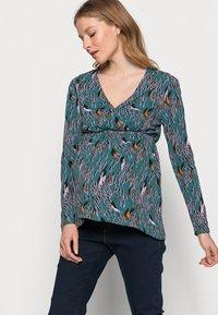 MAMALICIOUS - NURSING - Bluzka z długim rękawem - mallard blue - 3