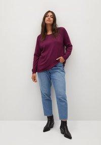 Violeta by Mango - SNAP - Jumper - wijnrood - 1