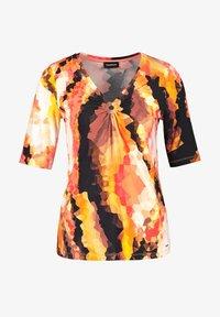 Taifun - Print T-shirt - papaya gemustert - 2