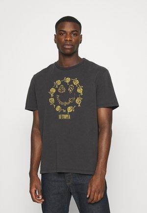 POSIE CREW - Print T-shirt - jet black