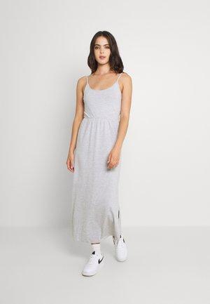 Vestido largo - mottled light grey