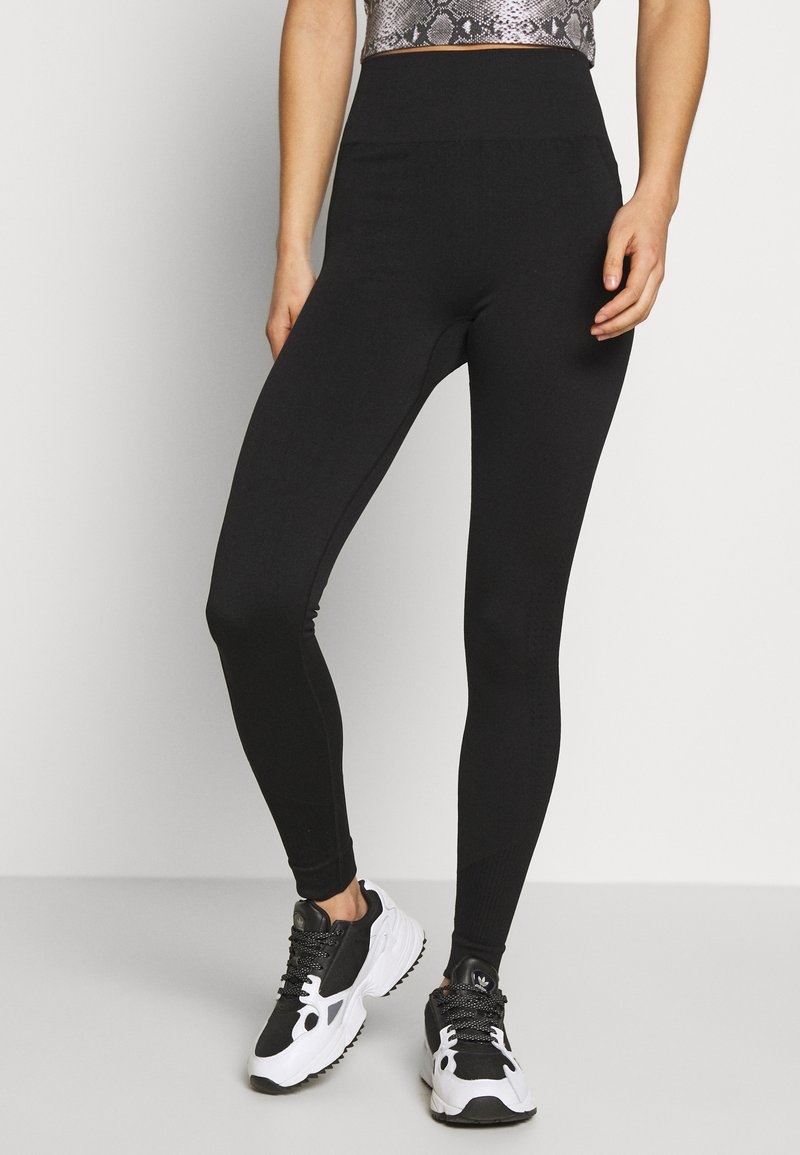 New Look - TEXTURED SEAM FREE - Leggings - Trousers - black