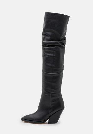 Over-the-knee boots - dark grey