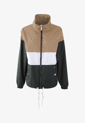 Summer jacket - dunkelsand d. oliv