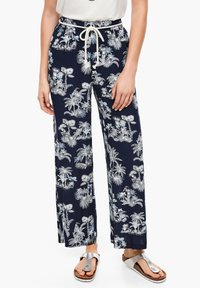 s.Oliver - ALLOVER-PRINT - Trousers - dark blue aop palms - 2