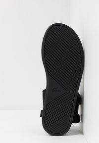 Lacoste - SURUGA - Sandały - black/dark grey - 4