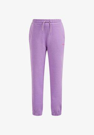 MET OPDRUK - Tracksuit bottoms - purple