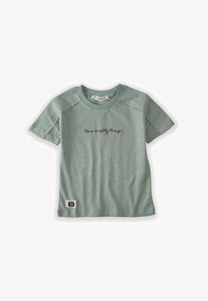 Print T-shirt - metallic green