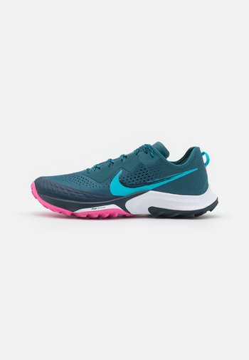 AIR ZOOM TERRA KIGER 7 - Trail running shoes - dark teal green/turquoise blue/armory navy/pink glow/white