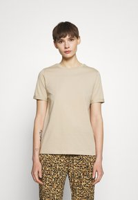 Pieces - PCRIA FOLD UP SOLID TEE - Basic T-shirt - white pepper - 0