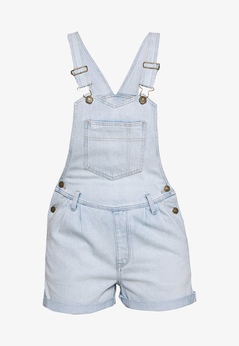 American Eagle - PLEATED MOM SHORTALL - Dungarees - blue daylight