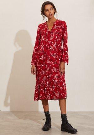 TIFFANY - Day dress - chili red
