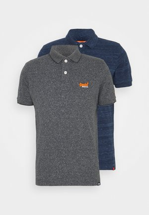 ORANGE LABEL 2PACK - Polo shirt - navy/ black