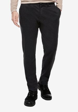 Suit trousers - purple/grey structured