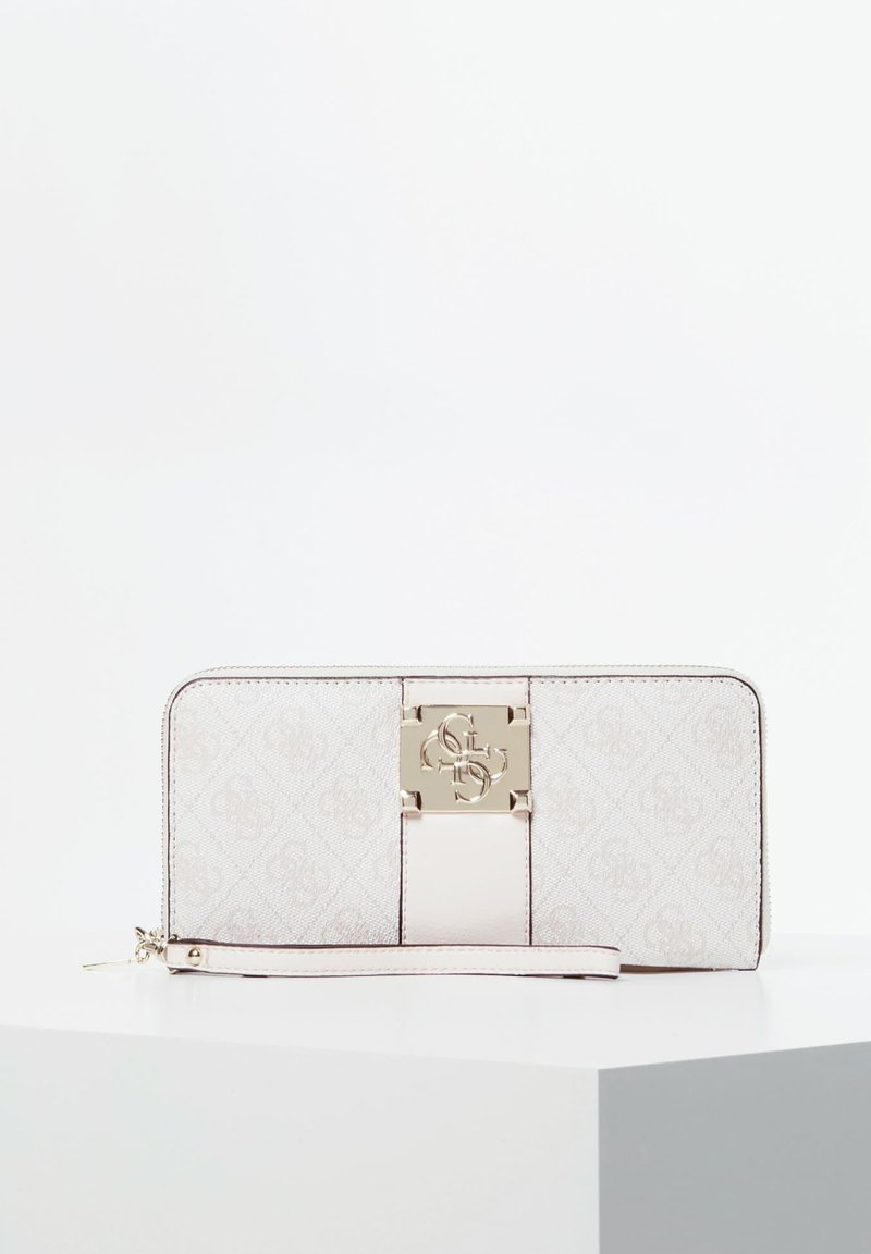 Guess - GUESS PORTEMONNAIE LOGO CITY ALLOVER-PRINT - Wallet - creme