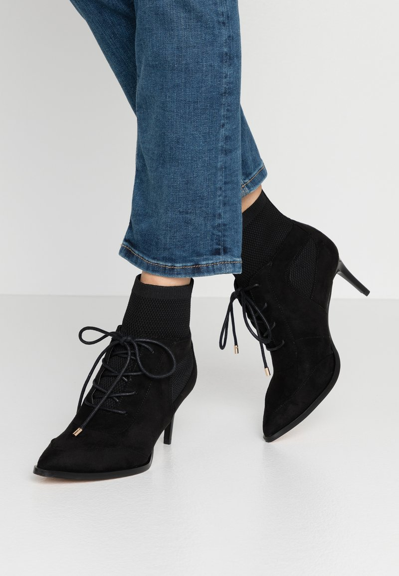 River Island - Lace-up ankle boots - black