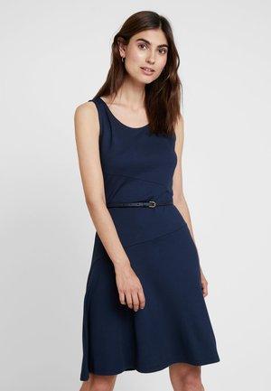 DRESS SOLID - Jersey dress - navy