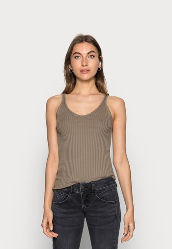Top - taupe