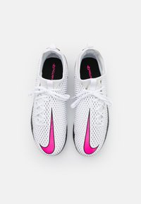 Nike Performance - JR PHANTOM GT ACADEMY DF FG/MG UNISEX - Moulded stud football boots - white/pink blast/black - 3