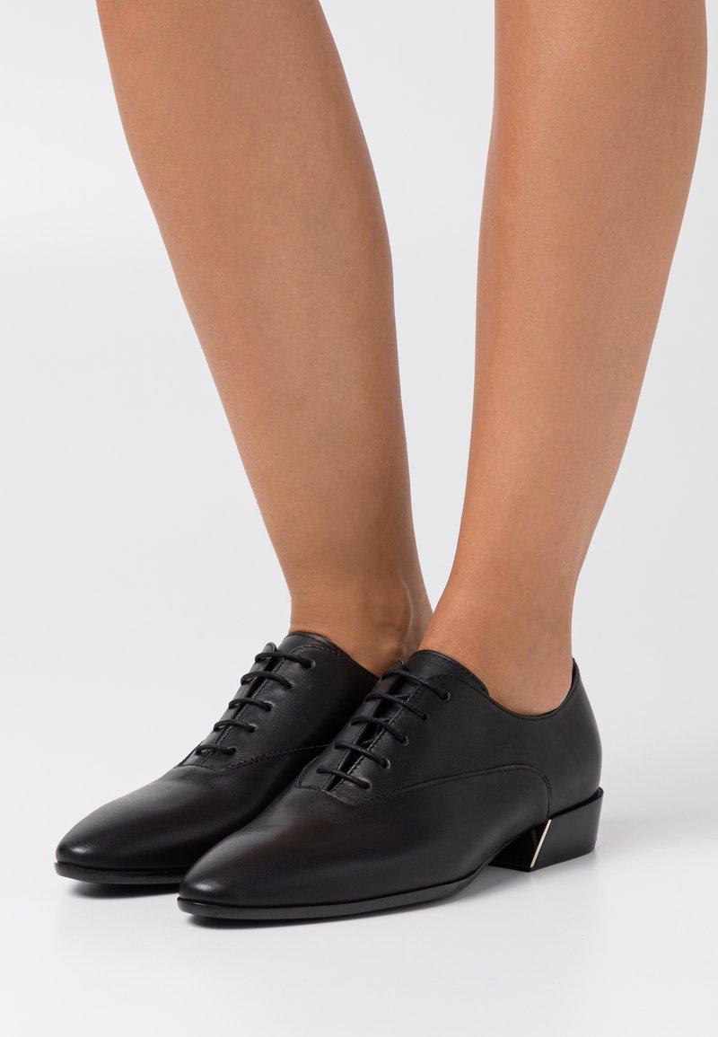 Furla - GRACE LACE UP - Šněrovací boty - nero