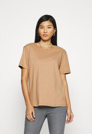 Botanical dyed top - T-shirt basique -  tan