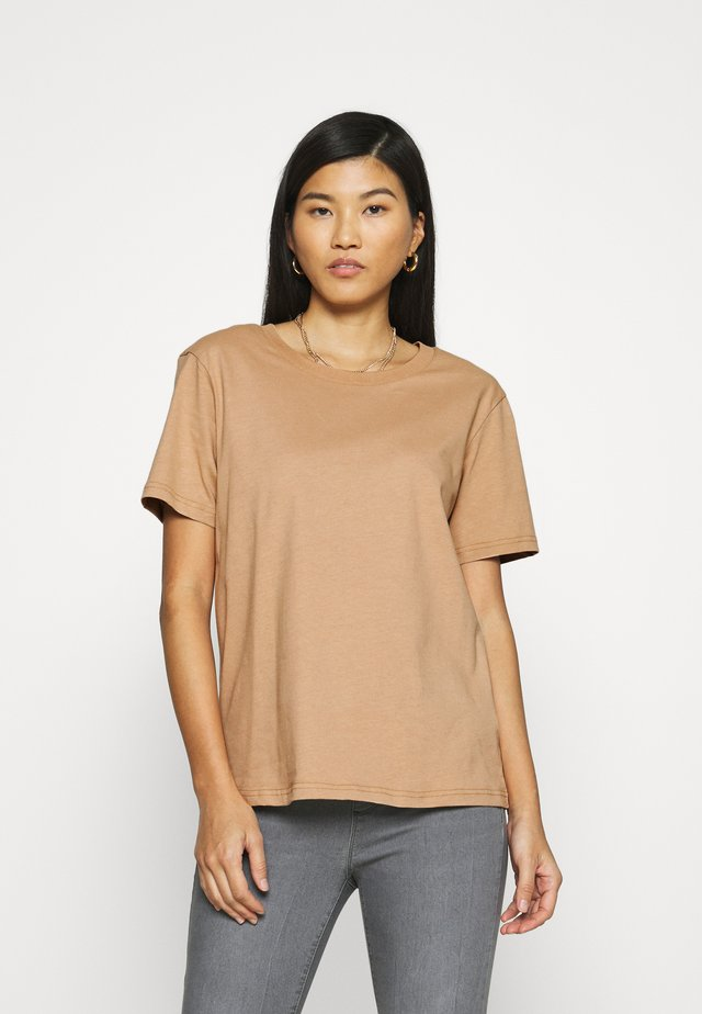 Botanical dyed top - T-shirt basic -  tan