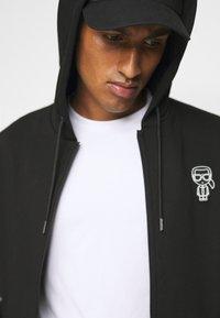 KARL LAGERFELD - HOODY - Zip-up hoodie - black - 4