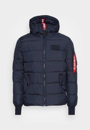 HOODED PUFFER ALPHA - Winter jacket - blue