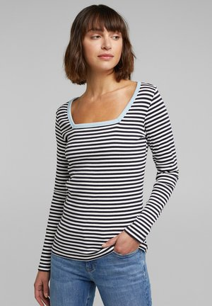 STRIPE - Long sleeved top - navy