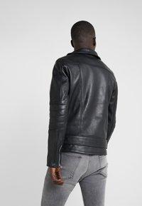 Bruuns Bazaar - FELIX JACKET - Leather jacket - black - 2