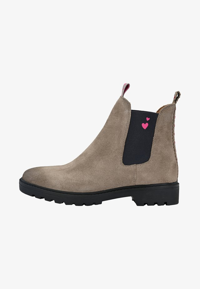CHELSEA BOOT HANNAH MIT HERZCHEN - Classic ankle boots - taupe