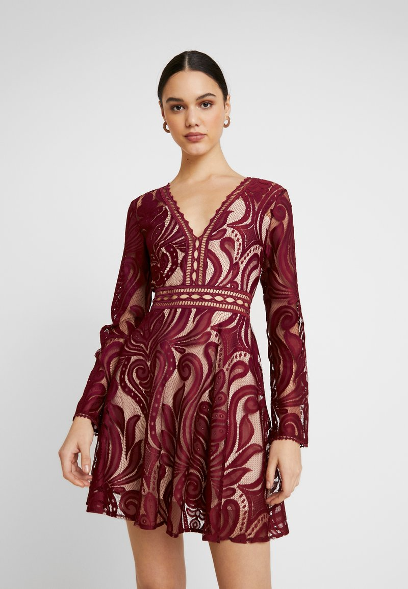Love Triangle - TEMPESTUOUS DRESS - Cocktail dress / Party dress - berry