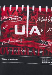 Under Armour - FOOTBALL OVERRATED - T-shirt imprimé - black - 2