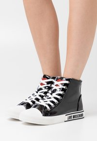 Love Moschino - LABEL SOLE - Sneakers hoog - black - 0
