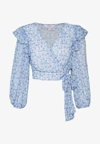 WRAP DETAIL BLOUSE - Blůza - blue
