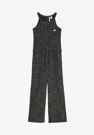 Jumpsuit - black with white