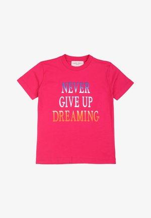 T-shirt con stampa - fucsia