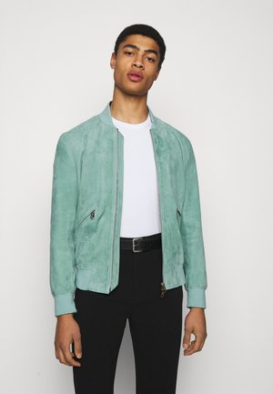 GENTS JACKET - Leather jacket - green