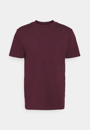 SLHRELAXCOLMAN O NECK TEE - T-shirt - bas - winetasting
