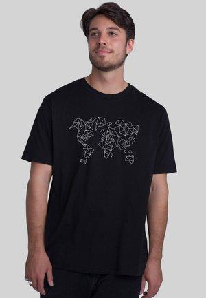 WORLDMAP - T-shirt print - black