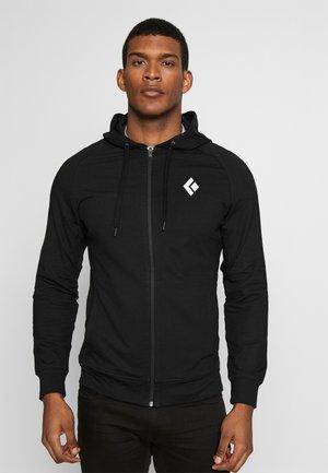 FULLZIP HOODY STACKED - Sweatshirt - black