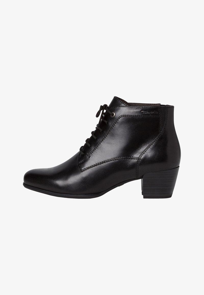 Tamaris - STIEFELETTE - Cowboy/biker ankle boot - black
