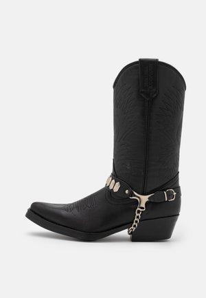 Cowboy/Biker boots - schwarz