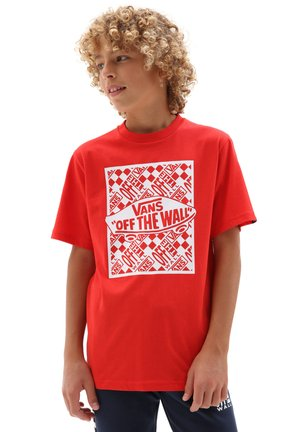 BY OTW REPEAT SS - T-shirt print - high risk red